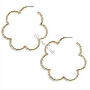 kate spade Jewelry - Kate Spade Large Scalloped Hoops